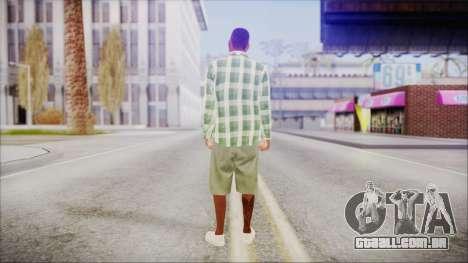 GTA 5 Grove Gang Member 2 para GTA San Andreas terceira tela
