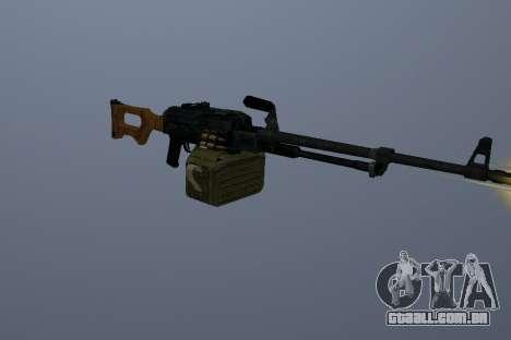 A Metralhadora Kalashnikov para GTA San Andreas terceira tela