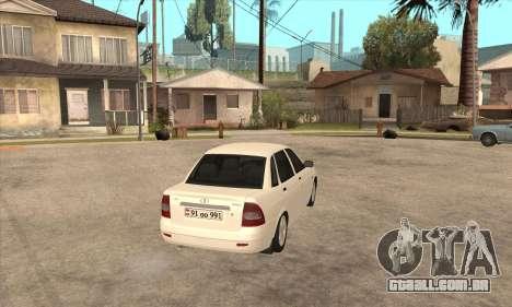 Lada Priora Armenian para GTA San Andreas vista direita