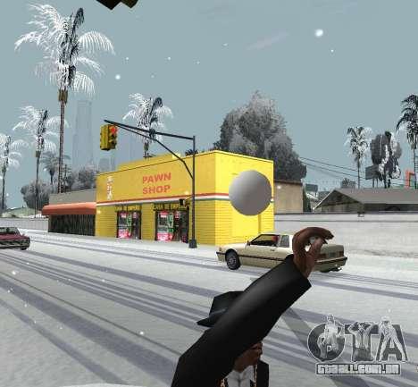 Jogando neve para GTA San Andreas terceira tela