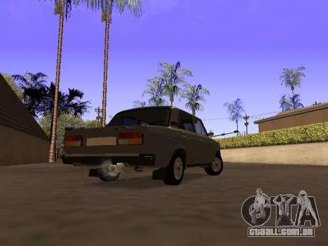 Principado VAZ 2107 San v0.3 para GTA San Andreas esquerda vista