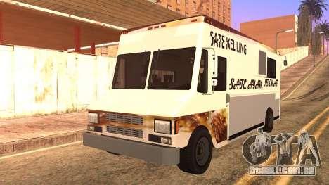 Sate Ayam (Chicken Satay) Van para GTA San Andreas vista traseira