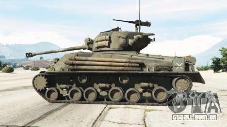 GTA 5 M4A3E8 Sherman Fury vista lateral esquerda