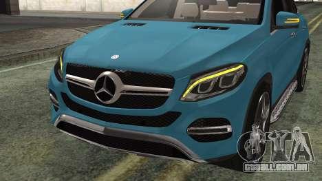 Mercedes-Benz GLE 450 AMG 2015 para GTA San Andreas vista traseira