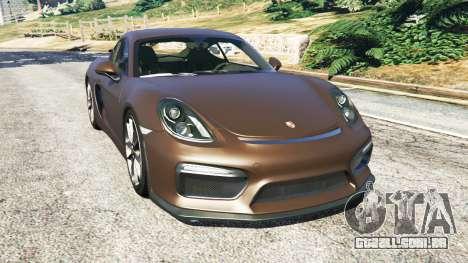 Porsche Cayman GT4 2016 v1.1 para GTA 5