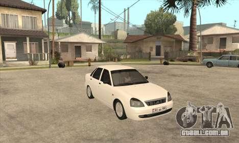Lada Priora Armenian para GTA San Andreas esquerda vista