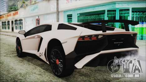 Lamborghini Aventador SV 2015 para GTA San Andreas esquerda vista