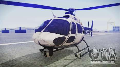 Batman Arkham Knight Police-Swat Helicopter para GTA San Andreas