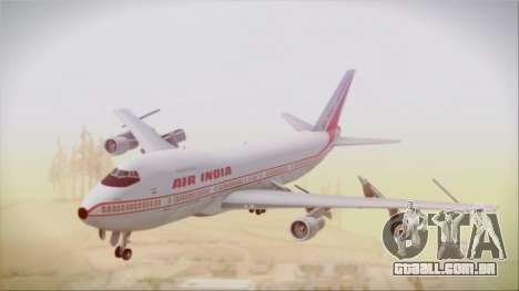Boeing 747-237Bs Air India Akbar para GTA San Andreas