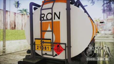 GTA 5 RON Tanker Trailer para GTA San Andreas vista direita