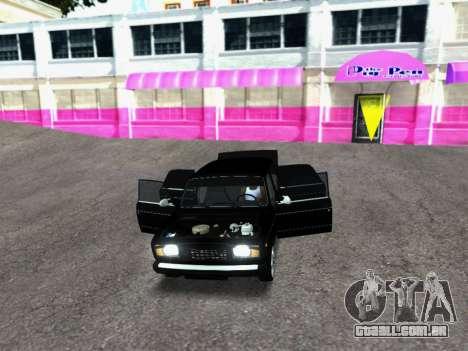 VAZ 2107-107 para GTA San Andreas vista traseira