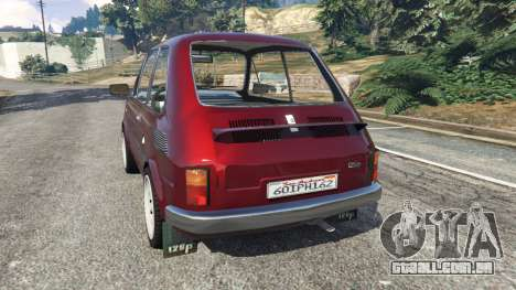 GTA 5 Fiat 126p v1.2 traseira vista lateral esquerda
