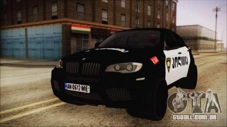 BMW X6 Georgia Police para GTA San Andreas