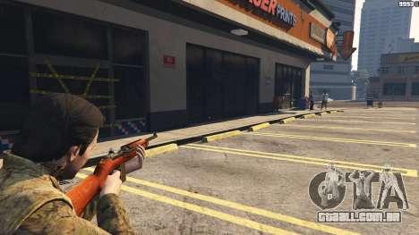 GTA 5 .30 Cal M1 Carbine Rifle décimo imagem de tela