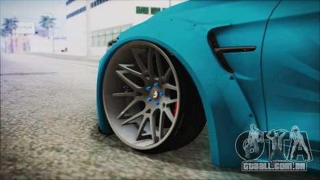 BMW M4 2014 Liberty Walk para GTA San Andreas traseira esquerda vista