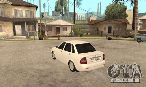 Lada Priora Armenian para GTA San Andreas traseira esquerda vista