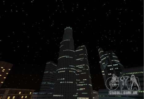 SkyBox and Lensflare para GTA San Andreas por diante tela