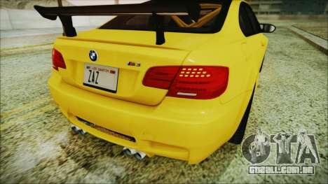 BMW M3 GTS 2011 IVF para vista lateral GTA San Andreas