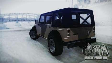 GTA 5 Canis Crusader IVF para GTA San Andreas esquerda vista