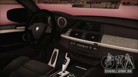 BMW X6 Georgia Police para GTA San Andreas vista direita