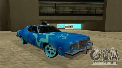 Ford Gran Torino Drift Blue Star para GTA San Andreas vista direita