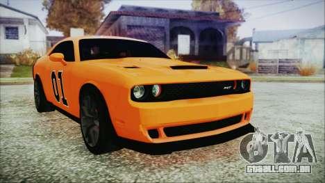 Dodge Challenger SRT 2015 Hellcat General Lee para GTA San Andreas