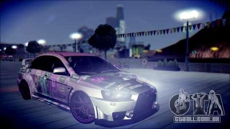 Mitsubishi Lancer Evolution Miku X Luka Itasha para GTA San Andreas