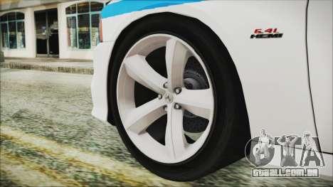 Dodge Charger SRT8 2012 Iraqi Police para GTA San Andreas traseira esquerda vista