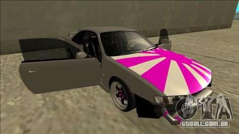 Nissan Silvia S14 Drift para GTA San Andreas vista inferior
