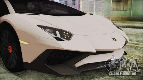 Lamborghini Aventador SV 2015 para GTA San Andreas vista interior