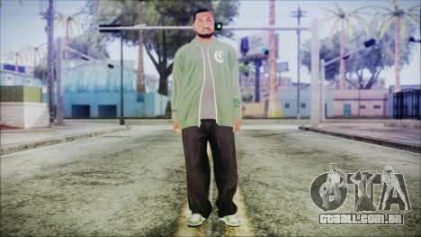 GTA 5 Grove Gang Member 1 para GTA San Andreas segunda tela