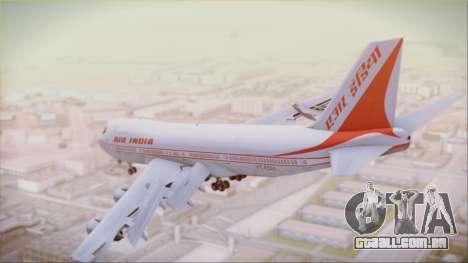 Boeing 747-237Bs Air India Akbar para GTA San Andreas esquerda vista