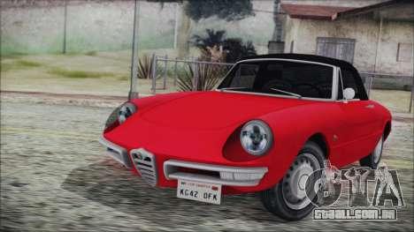 Alfa Romeo Spider Duetto 1966 para GTA San Andreas