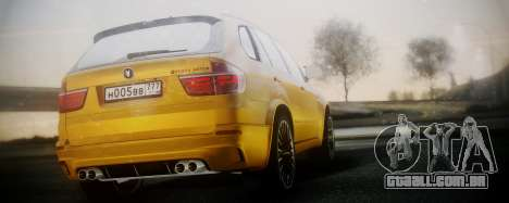 BMW X5M SMOTRA.GT para GTA San Andreas esquerda vista