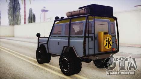 Land Rover Series 3 Off-Road para GTA San Andreas esquerda vista
