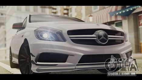 Mercedes-Benz A45 AMG Edition 1 para GTA San Andreas traseira esquerda vista