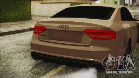 Audi RS5 para GTA San Andreas vista traseira