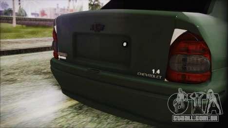 Chevrolet Corsa para GTA San Andreas vista traseira