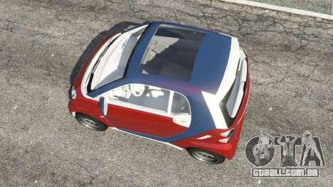 GTA 5 Smart ForTwo 2012 v0.1 voltar vista