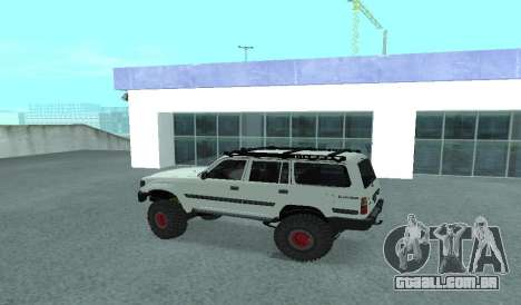 Toyota Autana 4500 off-road LED para GTA San Andreas esquerda vista