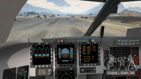 GTA 5 B-2A Spirit Stealth Bomber quinta imagem de tela