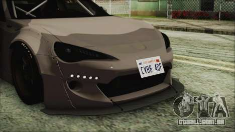 Toyota GT86 Rocket Bunny Tunable IVF para GTA San Andreas vista traseira