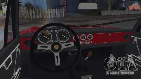 Alfa Romeo Spider Duetto 1966 para GTA San Andreas traseira esquerda vista