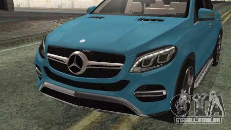 Mercedes-Benz GLE 450 AMG 2015 para GTA San Andreas vista direita