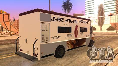 Sate Ayam (Chicken Satay) Van para GTA San Andreas esquerda vista