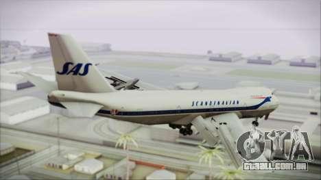 Boeing 747-283BM Scandinavian Airlines para GTA San Andreas esquerda vista