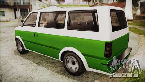 GTA 5 Declasse Moonbeam para GTA San Andreas esquerda vista