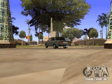 Principado VAZ 2107 San v0.3 para GTA San Andreas traseira esquerda vista