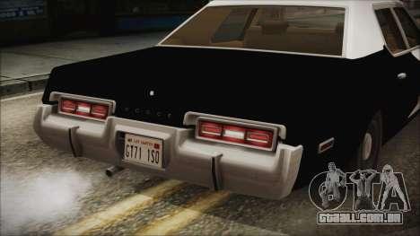 Dodge Monaco 1974 LSPD IVF para GTA San Andreas vista interior