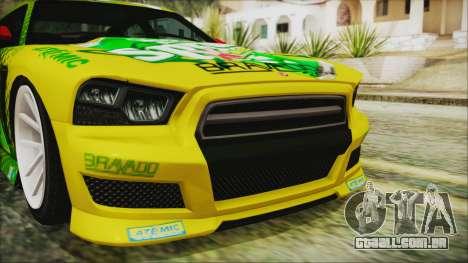 GTA 5 Bravado Buffalo Sprunk para GTA San Andreas vista traseira
